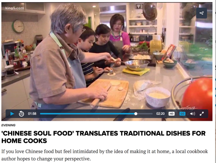 KING5 Evening segment featuring Hsiao-Ching Chou and her cookbook Chinese Soul Food
